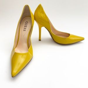 Guess Yellow Patent Leather Heel